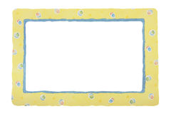 Yellow Patterned Border Royalty Free Stock Image