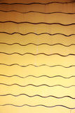 Yellow Patterns of walls with curves. Royalty Free Stock Image
