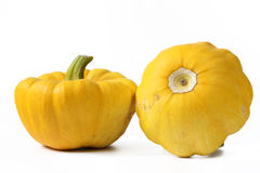 Yellow patty pan squash Royalty Free Stock Photo