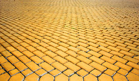 Yellow paved pavement Stock Images