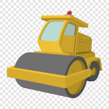 Yellow paver cartoon illustration Royalty Free Stock Photo