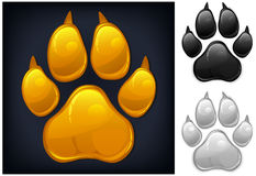 Yellow paw prints Stock Image