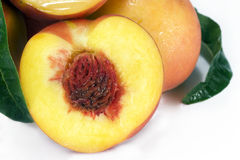 Yellow Peach Half Stock Photos