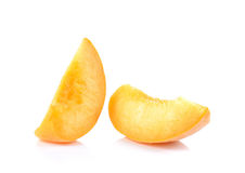 Free Yellow Peach,Peach Cut Pieces On White Background. Royalty Free Stock Photo - 72107715