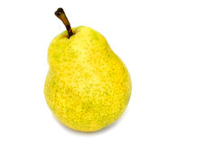 Yellow Pear. Isolated yellow william pear Royalty Free Stock Images