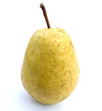 Yellow pear. Ripe yellow pear on a white background a close up Stock Images