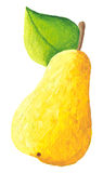 Yellow pear. Acrylic Illustration of yellow pear Royalty Free Stock Photos