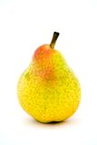 Yellow pear. On the white background royalty free stock image