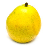 Yellow pear. Juicy yellow pear on white. Isolation on white Stock Image