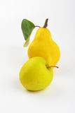 Yellow pear and apple Royalty Free Stock Photo