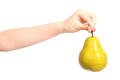 Yellow pear Stock Photos