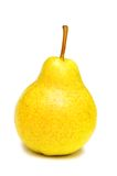 Yellow pear isolated. On the white background Royalty Free Stock Photography