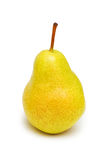 Yellow pear isolated. On the white background Stock Photos