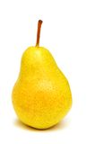 Yellow pear isolated. On the white background Royalty Free Stock Images