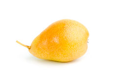 Yellow pear isolated on a white background Royalty Free Stock Image
