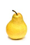Yellow pear isolated on the white background Royalty Free Stock Photo