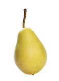 Yellow pear isolated on white Stock Images