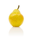 Yellow pear with reflection Royalty Free Stock Photos
