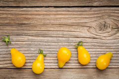 Yellow pear tomato Royalty Free Stock Images