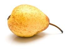 Yellow pear on white Stock Image