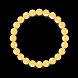 Yellow Pearl Necklace Stock Images