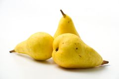 Yellow Pears Royalty Free Stock Photos