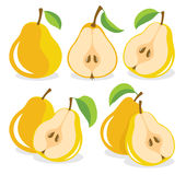 Yellow pears Stock Photos