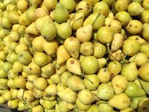 Yellow pears. At a famers market in kurdistan royalty free stock photography