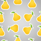 Yellow pears on grey Stock Photo