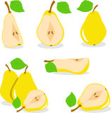 Yellow pears  illustration Royalty Free Stock Photos