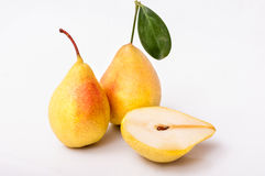 Yellow pears isolated on white background Stock Image