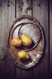 Yellow pears Stock Photos