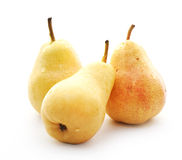 Yellow pears with water drops Royalty Free Stock Photography