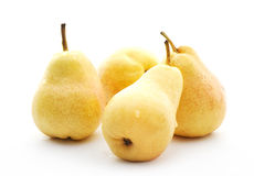 Yellow pears with water drops Stock Photography