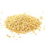 Yellow peas isolated on white background. Yellow dried peas isolated on white background royalty free stock image