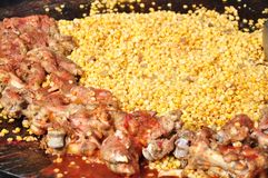 Yellow peas and pork shank Stock Image