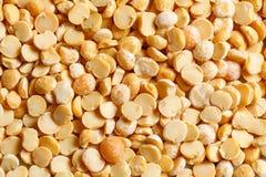 Yellow peas raw food ingredient texture. Macro close up detailed Royalty Free Stock Photos