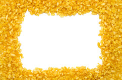 Yellow peas text frame. Background Royalty Free Stock Images