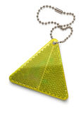 Yellow pedestrian safety reflector Stock Images