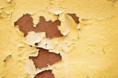 Yellow peeling paint stock photo