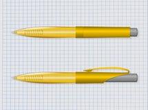 Yellow pen Royalty Free Stock Photos