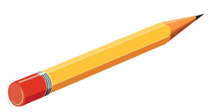 Yellow pencil. Yellow graphite pencil on transparent background Royalty Free Stock Photos