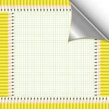 Yellow pencil. And graph paper Royalty Free Stock Image