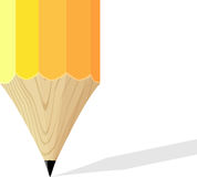 Yellow pencil background Stock Photos