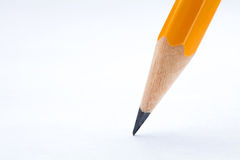 Yellow pencil closeup Royalty Free Stock Images