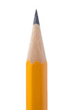 Yellow pencil closeup Stock Photography