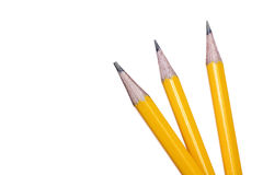 Yellow pencil on empty notepad Royalty Free Stock Images