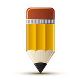 Yellow pencil icon. Stock Images