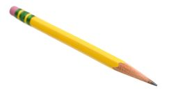 Yellow pencil Stock Photos