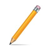 Yellow pencil isolated on white background Stock Photos